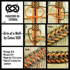 - Grin of a Wolf- by Cetus 550, tutorial by Paracord 101 #cetus550 #paracord101 #paracord