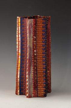 Frances Solar | 'Loom woven vessel' (Date Unknown). Copper wire, copper strip