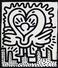 Keith Haring Original Artwork 1985 Pop Shop Business Card Collectible Art Piece
