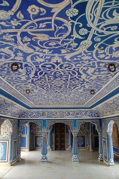 Blue Room, City Palace, Jaipur, India #places