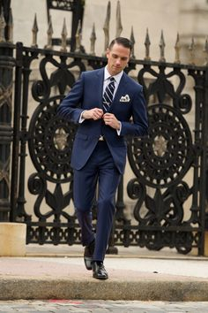 Groom Looks for Spring | Navy groom suits and Navy groom