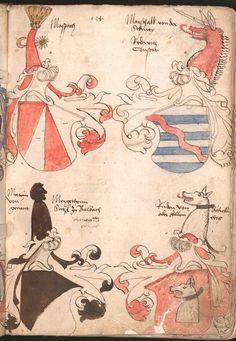 Wernigeroder (Schaffhausensches) Wappenbuch Süddeutschland, 4. Viertel 15. Jh. Cod.icon. 308 n  Folio 134r