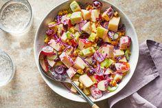 Creamy Apple Salad Apple Salad Recipes, Nut Recipes, Healthy Recipes, Diabetic Recipes, Snack Recipes, Easy Salads, Easy Snacks, Fruit Salads