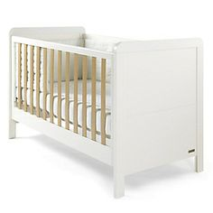 Rialto - Cot/Toddler Bed - Ivory White with Natural Oak Effect Trim - Rialto - Mamas & Papas Junior Bed, E Room, Cot Bedding, Beds For Sale, Mamas And Papas, Nursery Inspiration, Nursery Ideas, Nursery Furniture, Baby Boy Nurseries