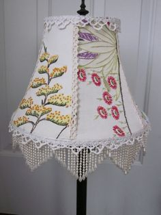 Lampshade from Vintage Linens by RecycledMemories on Etsy, $70.00