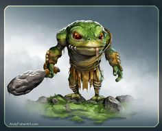 ArtStation - Drog the Frog Warrior, andy fisher