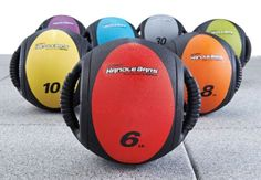 Orange HandleBars Medicine Ball $40
