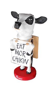 Chick-Fil=A licensed Bobblehead Gift Funny Videos, Jamaican Desserts, Eat Mor Chikin, Cow Appreciation Day, Cow Mug, Cow Spots, Cow Nails, Sister Act, Entertainment