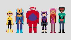 Big Hero 6 Cross Stitch Pattern PDF File For by StitchMeSideways