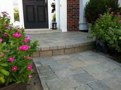 build your front porch with pavers | ... the porch and added paver stone to make your welcome extraordinary