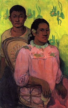 Tahitian woman and boy - Paul Gauguin