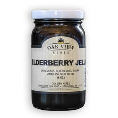 Elderberry Jelly is great for winter time toast. Helps to fight colds and the flu. Choose elderberry jelly made by Oak View Acres in Lancaster PA.