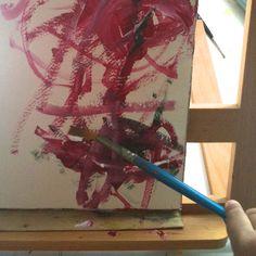 Kaksivuotiaan lapsen maalaus - A two year old childs painting