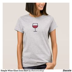 Simple Wine Glass Icon Shirt