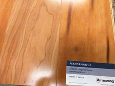 In person pic of the flooring sample - Armstrong Cherry in Sugared Honey