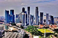 Singapore - 1970s skyline.