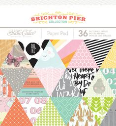 Studio Calico  Brighton Pier Collection  6x6 by SharBearCrafts, $5.99