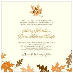 Invitation Wording Fall Wedding Invitations Design Bridal Shower Fox