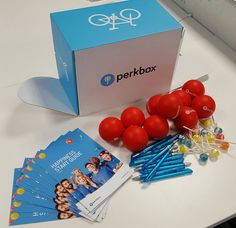 """Recruit UK: """"Thank you @perkbox for our goodies..More balls to throw around the office #perkbox #teamgames"""""""