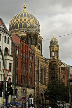 Berlin - The New Synagogue, built 1859-1866