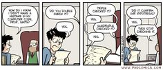 When to stop checking your code  http://phdcomics.com/comics.php?f=1693