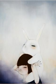 :: Sweet Illustrated Storytime :: Illustration by Hanna Kim Illustration Mignonne, Art Et Illustration, Lapin Art, Somebunny Loves You, Bunny Art, Big Bunny, Bunny Rabbit, Inspiration Art, You Draw