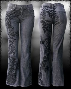 awesome art jeans