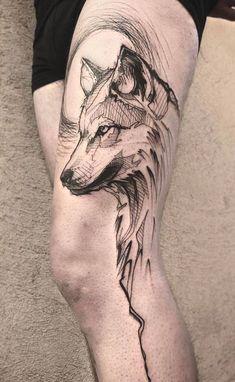 #wolf #tattoo #tattoosmen'ssleeves