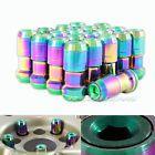 "20x M12 x 1.25mm Thread Pitch Green / Neo Chrome Wheel Rim Tuner 1.9"" Lug Nuts - 1.25mm, CHROME, Green, NUTS, Pitch, Thread, Tuner, Wheel"