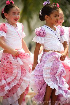 Young Dancers from the Linda Vega Dance Studio put on a show at the sunken gardens during Santa Barbara's Fiesta 2007. (via scottlondon, Flickr)