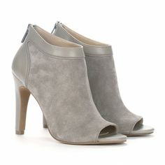 Open Toe Grey Heels for Fall!