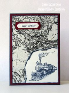 Traveler birthday card, using supplies from Stampin' Up! www.craftingandstamping.com. #stampinup