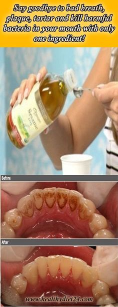 Say goodbye to bad breath, plaque, tartar and kill harmful bacteria in your mouth with only one ingredient