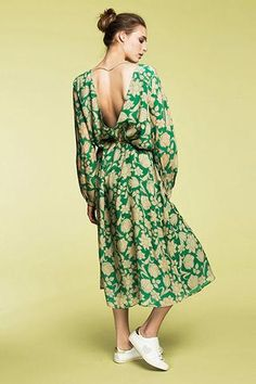 Essentiel Nelson Tropical Green Dress