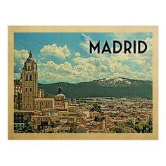 Madrid Spain Vintage Travel Postcard Zazzle Com In 2020 Vintage Postcards Travel Travel Postcard Vintage Travel