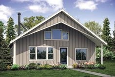 This Cozy Hideaway is a Stylish Retreat House Plan - House Plan 41302 - Cabin , Contemporary , House Plan with 1706 Sq Ft, 2 Bed, 2 Bath Small House Floor Plans, Cabin House Plans, Cabin Floor Plans, A Frame Cabin Plans, Barn Plans, Wood Plans, Contemporary House Plans, Contemporary Style Homes, Cabin Design