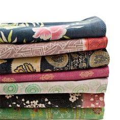 AU Maison-loooove kantha quilts!!!