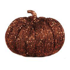 Glitzy Bronze Pumpkin   Kirklands