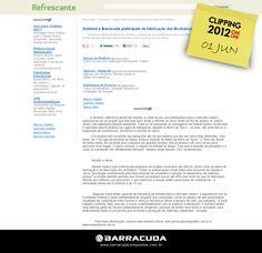 ::Refrescante::   Ashland e Barracuda participam da fabricação das Ecobalsas  Acesse o link da matéria http://refrescante.com.br/ashland-e-barracuda-participam-da-fabricacao-das-ecobalsas.html