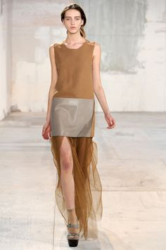 acne fall 2011 rtw, love the flowy long skirt with the structured top