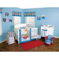 Trend Lab NASCAR 6 Piece Crib Bedding Set Blue Red Trend Lab