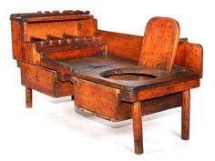 Primitive Chamber Pot Chair & Work Bench