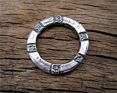 Round Sterling Silver Artisan Heavy Bracelet by VDIJewelryFindings, $17.55