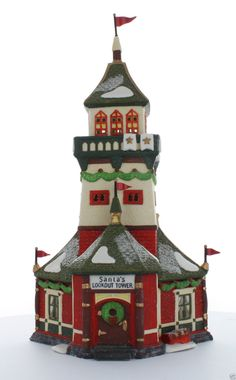 Department 56 North Pole Series Santa's Lookout Tower 1993 56294 Retired | eBay $48.00