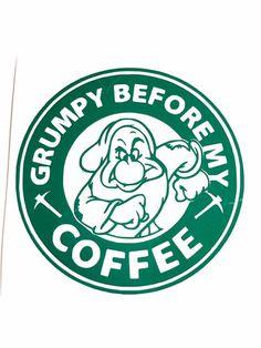 DIY Grumpy Before My Coffee Vinyl Decal, You Choose Size, and Vinyl Color, Grumpy Dwarf, Laptop Decal, Car Window Decal, Coffee Cup by VinylMeeThis on Etsy