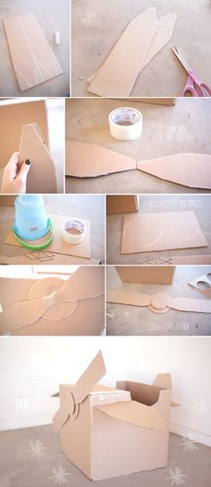 Step-by-step, how-to-make a cardboard airplane