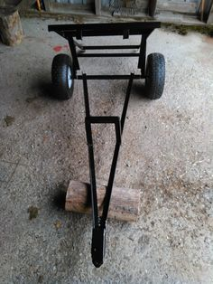 a small cart by dumping