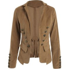 Lapel Structured Washed Blazer Light Coffee ($18) ❤ liked on Polyvore featuring outerwear, jackets, blazers, blazer jacket, brown blazer jacket, brown blazer, lapel jacket and lapel blazer