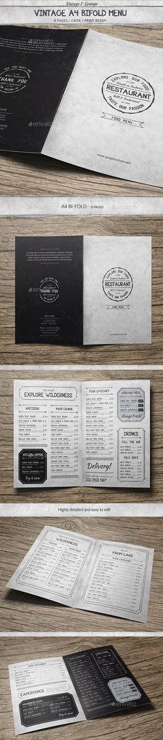 BiFold Restaurant Menu Vol 9 Restaurant menu template, Menu - free downloadable restaurant menu templates
