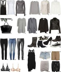 Clothes Casual Outfit for Wardrobe Basics, Capsule Wardrobe, Simple Wardrobe, Professional Wardrobe, Travel Wardrobe, Work Wardrobe, Wardrobe Ideas, Closet Basics, Black Wardrobe